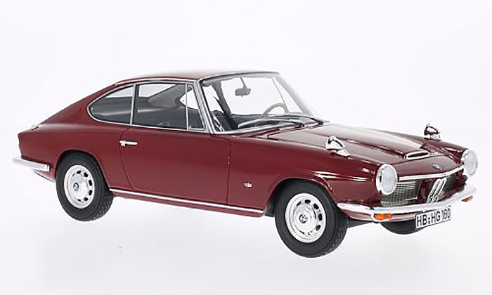 1968 BMW 1600 GT Coupe, dark red