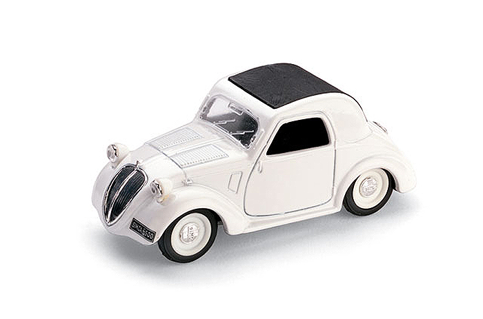 1936 Simca 5 Aperta, white w/ black roof