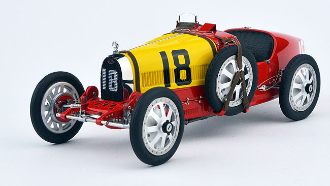1924 Bugatti T35, Spain, red and yellow