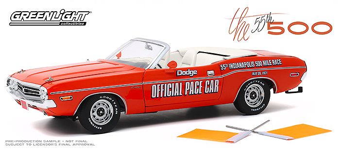 1971 Dodge Challenger Convertible, 55th Indy 500 Pace Car