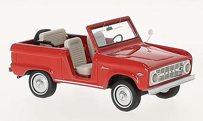 1966 Ford Bronco Roadster, red
