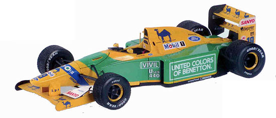 1992 Benetton Ford B192, Schumacher, no driver figure, 1st victory