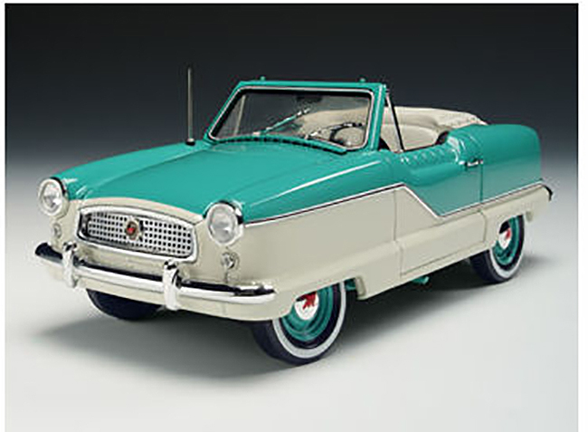 1959 Nash Metropolitan Convertible, green/white